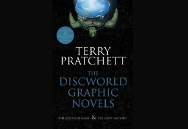 The Discworld Graphic Novels by Terry Pratchett contain comic book adaptations of his first two Discworld novels.