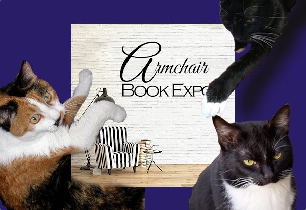 Armchair logo with my three cats