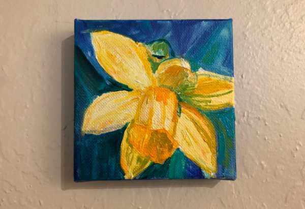 Daffodil painting, WIP