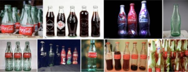 Coca Cola bottles on a Google image search.