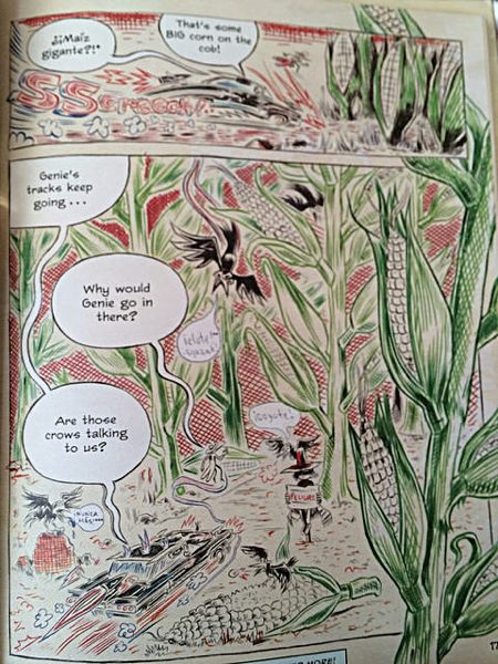 Page showing the journey through the maize maze